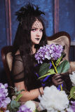 Goth女孩 免版税库存照片