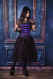 Goth女孩 库存照片