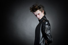 goth νεολαίες πορτρέτου Στοκ εικόνες με δικαίωμα ελεύθερης χρήσης