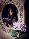 Девушка Goth Стоковые Изображения