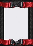 Goth card menu invitation royalty free illustration