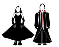 Goth couple. In cutout on a white background royalty free illustration