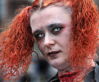 Goth dans Whitby Image libre de droits