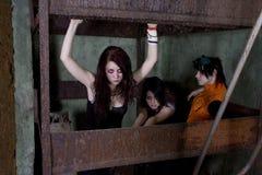 Goth de filles Photographie stock