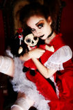 Goth Doll Woman Royalty Free Stock Photography