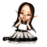 Goth Fairy. A startled goth fairy Stock Photography