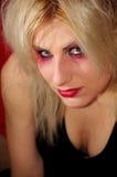 Goth flickaselfie Arkivfoton