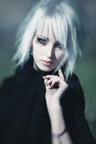 Goth Frauenportrait stockbild