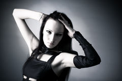 Goth Frauenportrait Lizenzfreies Stockbild