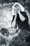 Goth Frauensorge lizenzfreies stockfoto