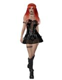 Goth girl 4. 3D render of a beautiful goth girl Stock Images