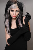 Goth girl stock photography