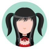 Goth girl avatar Stock Photos