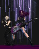 Goth Girl Band on Stage Royalty Free Stock Image