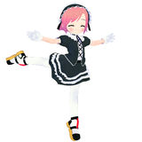 Goth Girl Dancing Stock Photo