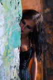 Goth Girl in doorway Royalty Free Stock Image