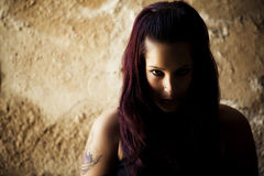 Goth girl posing Stock Images