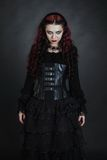 Goth girl with a red hair Royalty Free Stock Photos
