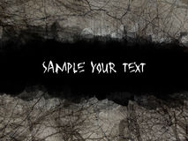 Goth grunge. Dramatic smeared blood-red sky with tree silhouettes sample your text Stock Image