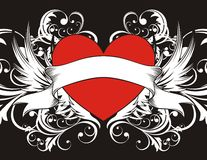 Goth Heart background Royalty Free Stock Photography