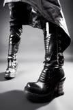 Goth heavy boots royalty free stock photo