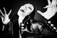 goth horroru portreta kobieta zdjęcia stock