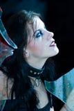 Goth Mädchen-Portrait Stockfotografie