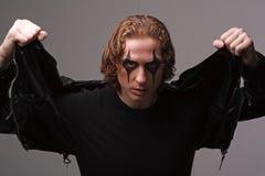 Goth man Stock Photo