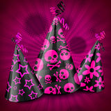 Goth party hats on pink Stock Images