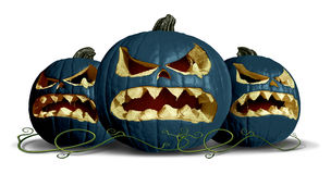 Goth Pumpkin Halloween Group Stock Images