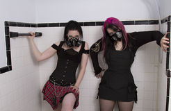 Goth in the shower Royalty Free Stock Photo