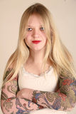 Goth teenager Fotografia Stock Libera da Diritti