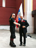 Goth und Lenin stockfoto