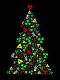 Goth warning Christmas tree Royalty Free Stock Photography