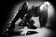 Goth woman Royalty Free Stock Photography