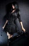 Goth woman fashion Stock Photos