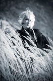 Goth woman outdoors portrait Royalty Free Stock Photo