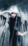Goth woman outdoors portrait Royalty Free Stock Image