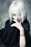 Goth woman portrait Royalty Free Stock Image