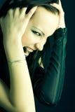 Goth woman portrait Stock Images