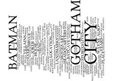 Gotham City Word Cloud Concept Royalty Free Stock Photo