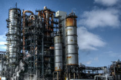Gotham 2. This is an oil and gas refinery, nestled in an industrial park Royalty Free Stock Photo