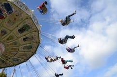 Gotheburg Liseberg Swing Ride. Liseberg Amusement Park Swing Ride stock photo