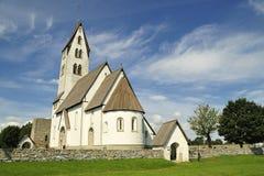 Gothem Church in Gotland stock photography