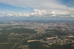 Gothenburg from above. The city of Gothenburg, Sweden seen from above stock photo
