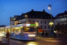 Gothenburg alla notte Immagini Stock