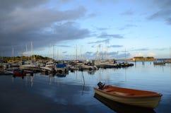 Gothenburg Archipelago. Gothenburg Goteborg Archipelago Jetty Boat royalty free stock image