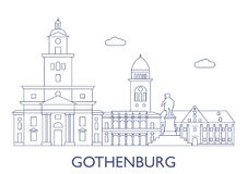 Gothenburg As construções as mais famosas da cidade Fotografia de Stock