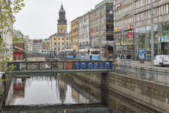 Gothenburg Canal Scene Royalty Free Stock Photos