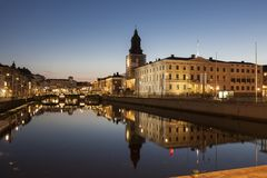 Gothenburg City Hall and German Church. Gothenburg, Vasstergotland and Bohuslan, Sweden royalty free stock images